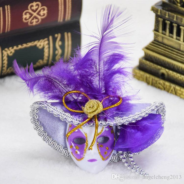 Best Quality Venetian Feather Mask Hat Refrigerator Stickers For ...