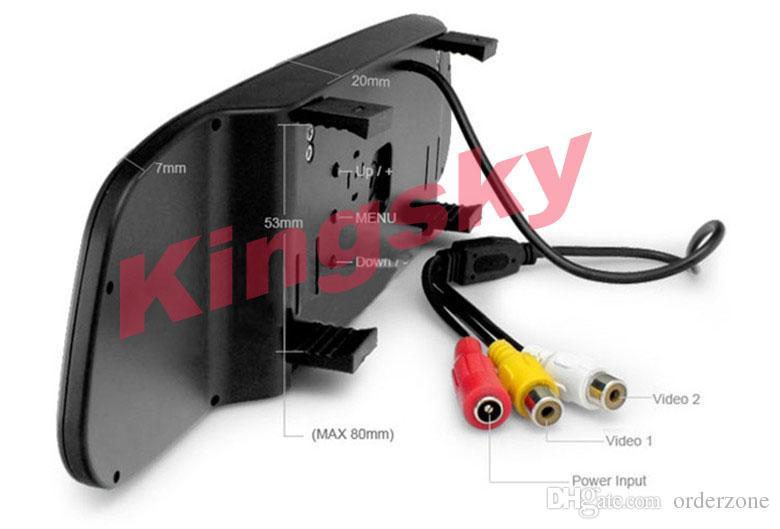 Funk Kabello Auto Kamera 7 IR LED Nachtsicht Nummernschi Rückfahrkamera + 4,3