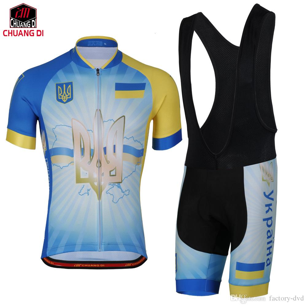 Ukraine Flag Cycling Jersey for Men and Women Mountain Bicycle Bike  Clothing Sportswear Sport Jerseys Cycling Set