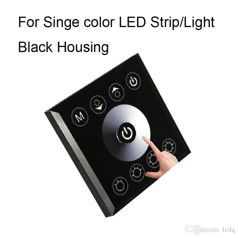 RGB RGBW Single Color Wall Mounted LED Controller Switch Touch Panel Controllers For 3528 5050 5630 LED Strip Lights Lamp Black White