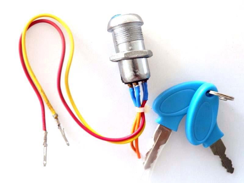 Wholesale- Key Ignition Switch Mini Moto Pocket Bike Chopper Chinese 2 Wires