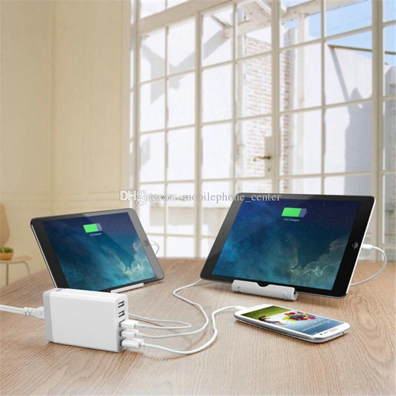 2016 5 Port Wall Home Charger Adaptor 40 watt 5V 8A EU Plug AC To USB power socket Station For Mobile phone tablet