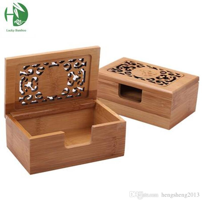 2018 Wholesale Business Card Holder Storage Boxes Bamboo Wood ...