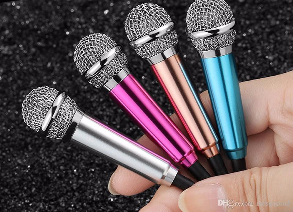 Mini Condenser Microphone Karaoke Voice Recording Mobile Phone Computer Sing Miniature Mic Microphone For Smart Phones Laptops
