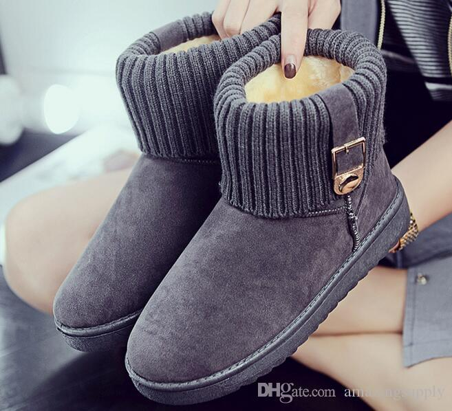 Women Winter Boots Women Winter Shoes Flat Heel Ankle Casual Cute Warm Shoes Fashion Snow Boots Women's Boots Item No. XDX-012