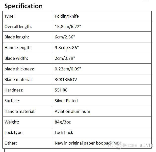 Survival Folding Knife 3Cr13 Titanium Drop Point Blade Aluminum Handle EDC Pocket Knives Liner Lock Tactical Gear