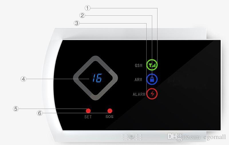 GSM Alarm System mit Metall Fernbedienung Englisch / Russisch Voice Prompt Wireless Tür Sensor Sicherheit Home GSM Alarmanlagen LCD Display