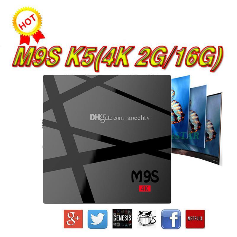 Best 2018 Pre Sale M9s K5 Android 6.0 Tv Box 2gb 16gb Rk3229 S905w ...