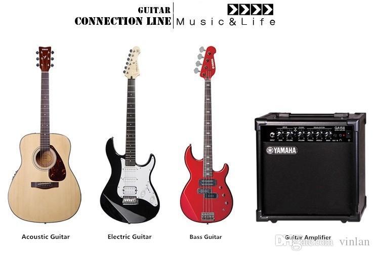 Di alta qualità 6 m elettrico patch cord chitarra amplificatore cavo chitarra pedale cavo accessori chitarra strumenti musicali parti