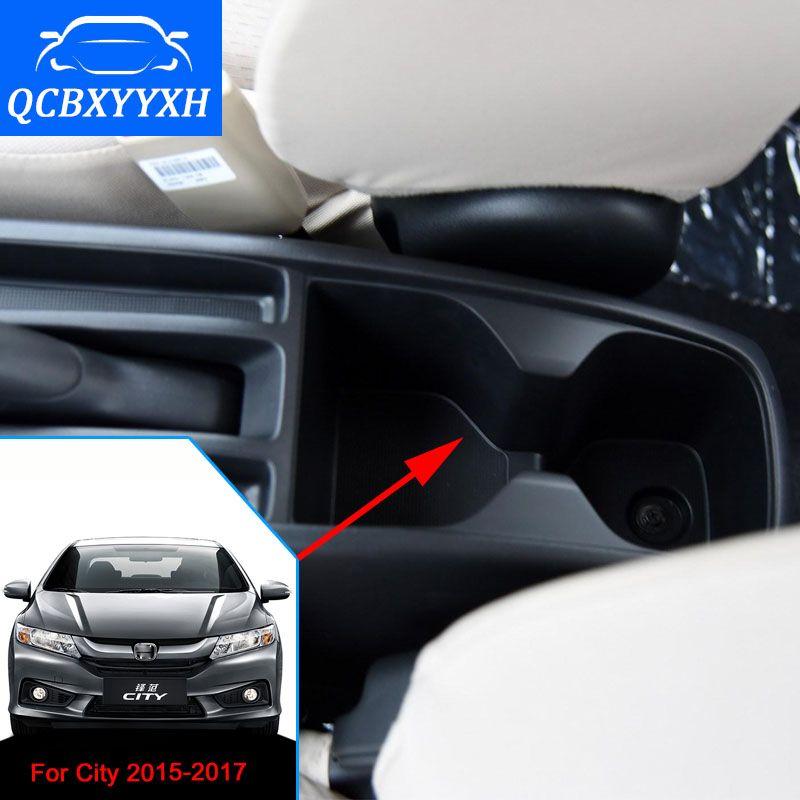 Автомобиль-стайлинг для Honda Новый город подлокотник коробка Центральный магазин Ящик для хранения контента с подстаканник пепельница 2015-2017 PU кожаный чехол