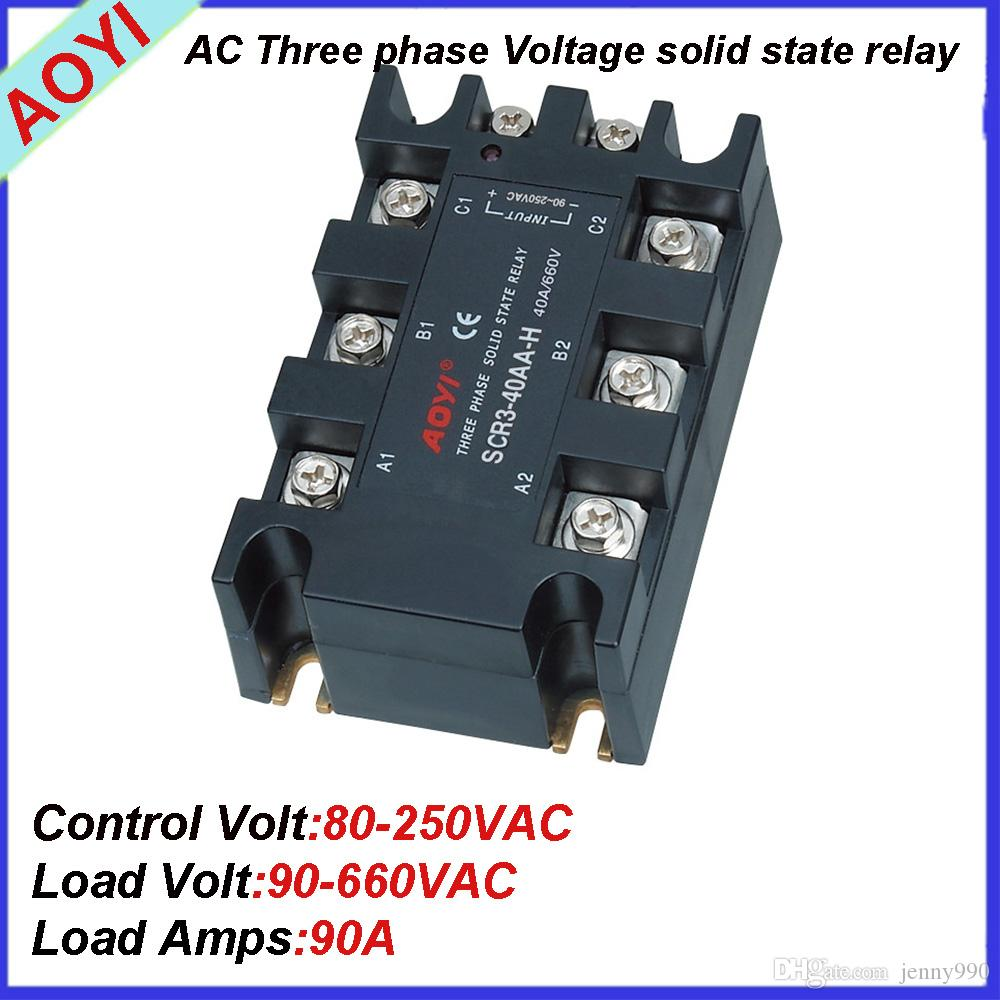 2018 Guaranteed 660vac 480vac 380vac 220vac Dc Ac Ssvr Scr3 90aa H Solid State Relay 220v From Jenny990 4473