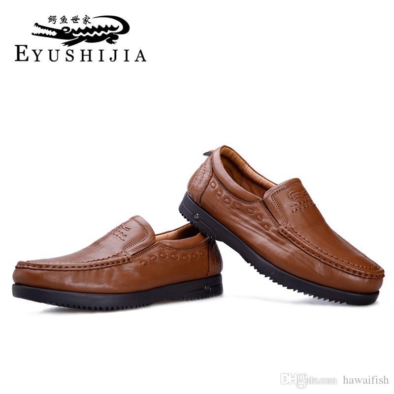 Großhandel Mens Business Schuhe Echtes Leder Mens Kleid Schuhe ...