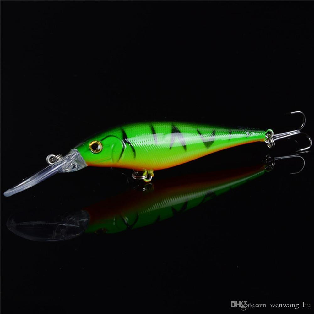 10-اللون 11.5CM 10.5G أسماك من البلاستيك الصلب الطعوم الصيد السحر خطاف 6 # هوك PESCA معالجة صيد الاسماك اكسسوارات WL-1