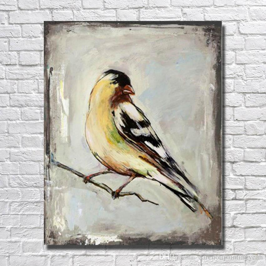 Hand Painted Birds Paintings On Canvas Bedroom Wall Decor Cheap Oil Painting Nice Decor Pictures No Framed