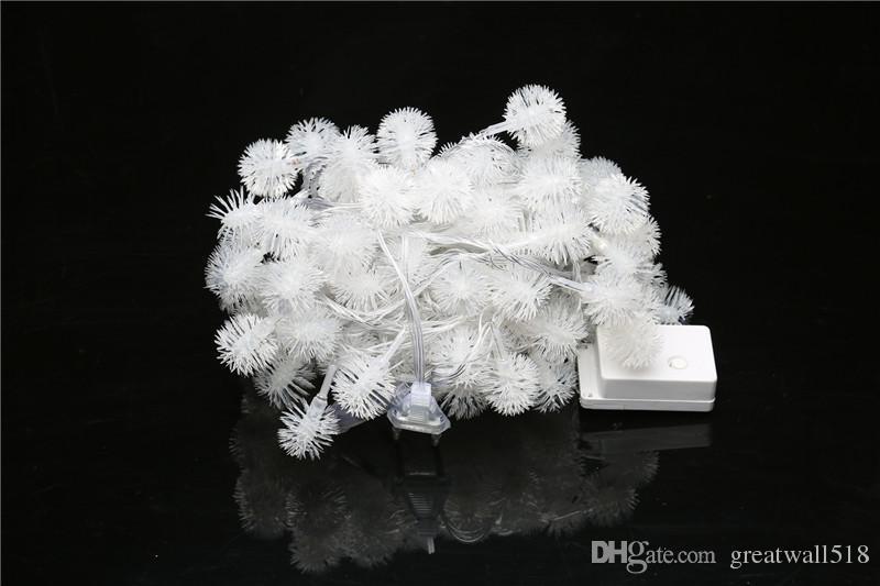 LED-Schnur-Licht-warmes weißes feenhaftes helles Feiertags-Licht für Partei-Weihnachtshochzeits-Dekoration Wechselstrom betriebener Puffer-Ball QX008