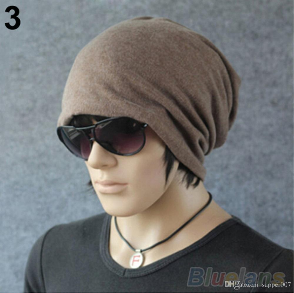 2016 New Fashion Women Men Cotton Hat Baggy Beanie Ski Crochet Warm ... 496ea76898e