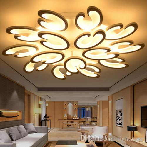 2018 Led Dimmable Ceiling Lights Indoor Lighting Postmodern Flower Shape  Led Ceiling Lamps For High End Office Hotel Restaurant White Acrylic Ce  From ... Gallery