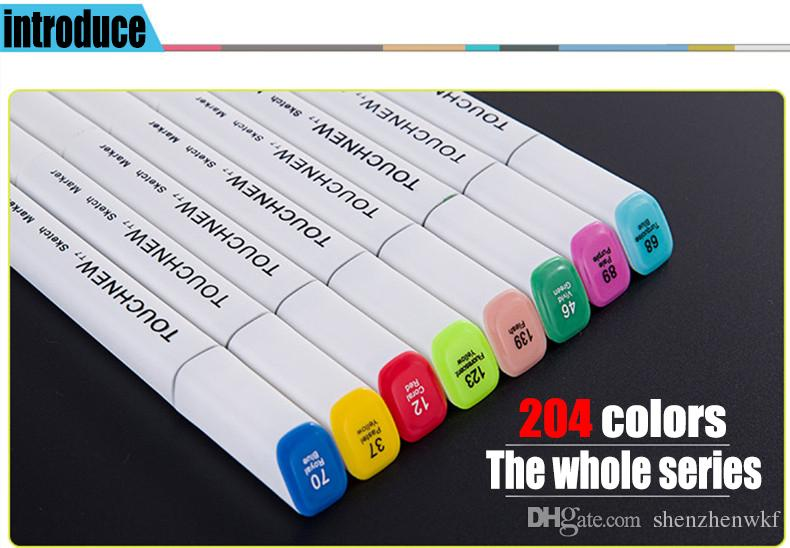 60 Artista Doppia Headed Marker Set Mark penna manga animazione della vernice di disegno di abbozzo Copic Markers il disegno