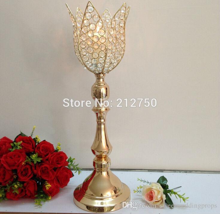 Lüks düğün temizle şamdan ve çiçek kase / uzun boylu centerpiece standları / uzun boylu vazo centerpieces toptan