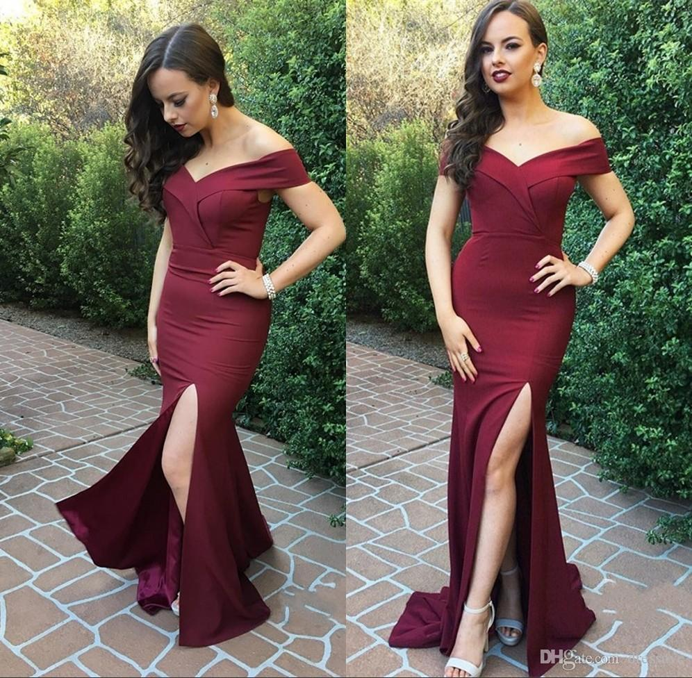 Maroon Prom Dresses 2018