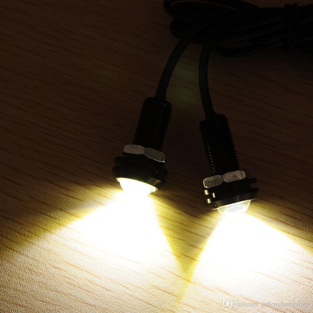 LED Car Light Bulb 18mm 12V White LED Eagle Eye Light Daytime Running Fog Strobe Down Brake Light LED Bulb DIY LED Lamp