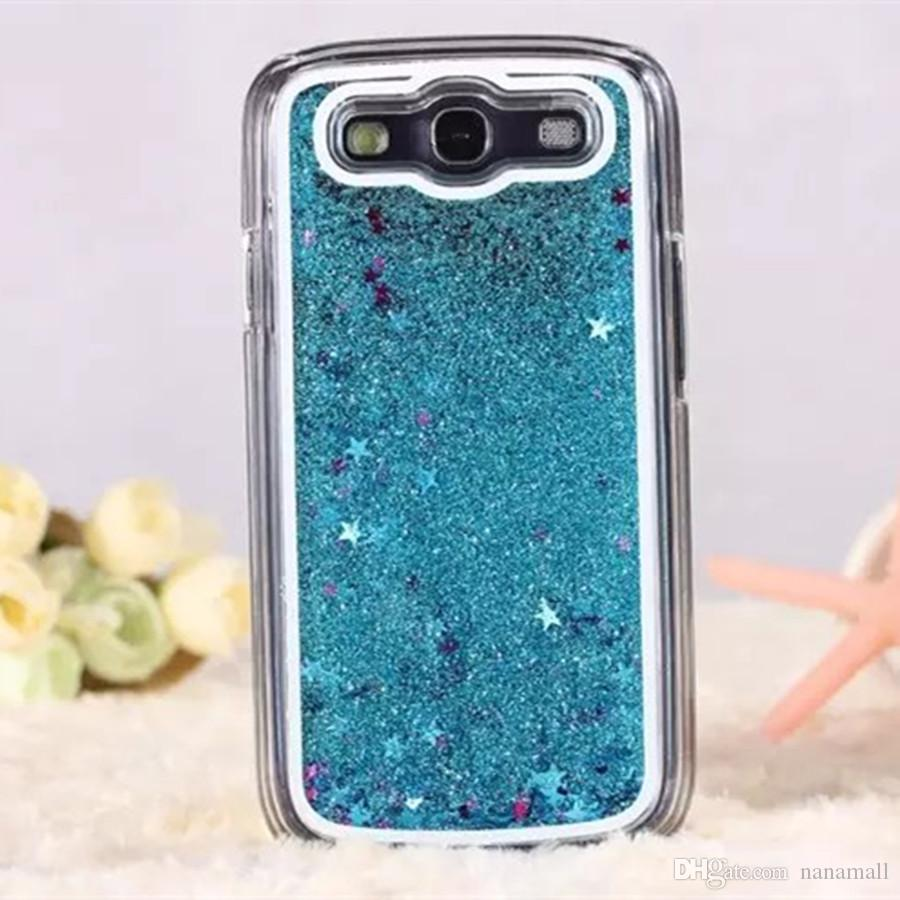 Clear Dynamic Liquid Glitter Colorful Paillette Sand Quicksand Star Back Case Cover for Samsung Galaxy Grand Prime G530 G531H G360
