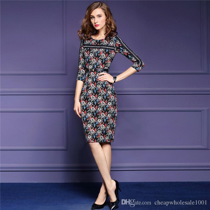Compre Las Mujeres De La Flora Imprimen Los Vestidos Las Mujeres De ...