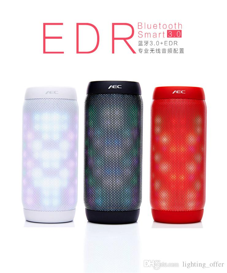 Bluetooth Speakers Hi-Fi Portable Wireless Stereo Speaker with 7 LED Visual Modes and Build-in Microphone Support Hands-free Function