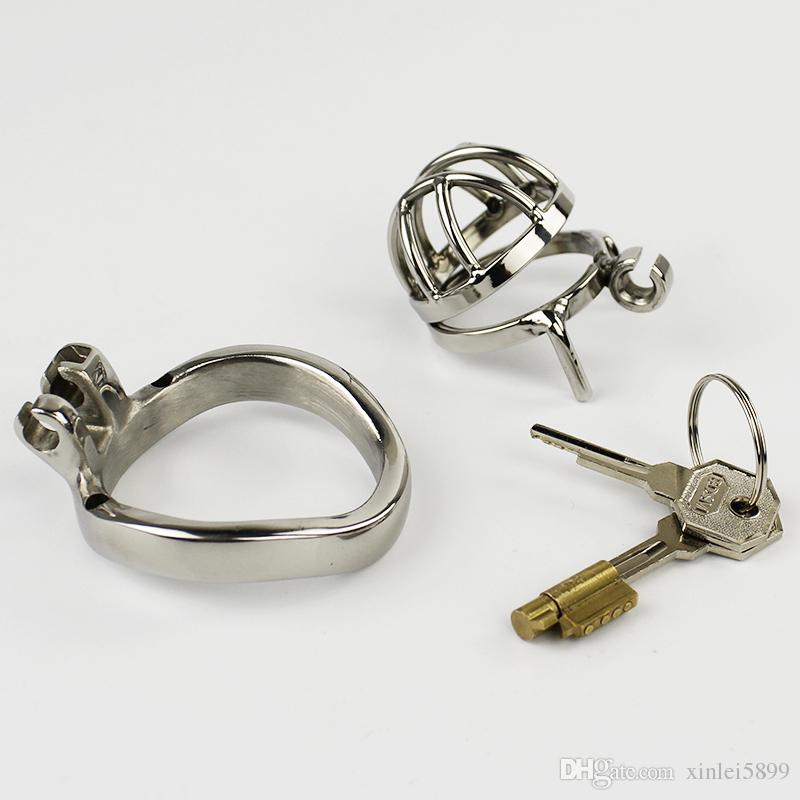 Super Small Male Chastity Device Stainless Steel Chastity Cage BDSM Sex Toys For Men Penis Lock
