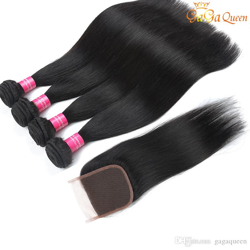 Brazilian Straight Hair With Closure 8a Brazilian Virgin Hair 3 Bundles With Lace Closure 4x4 Brazilian Lace Closure With Bundles Human Hair
