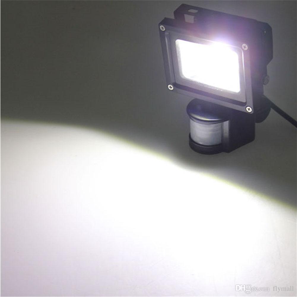 PIR Motion Sensor Led Floodlights Waterproof IP65 10W 20W 30W 50W 100W Led Flood Light Induction Sense Outdoor Led Lighting AC 85-265V
