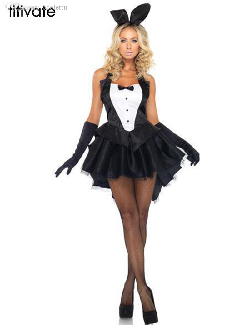 70874e116b3a Al por mayor-M-2XL Bunny Girl Rabbit TITIVATE Disfraces Mujeres Cosplay  Sexy Halloween Disfraz de Animal Adulto Fancy Dress Clubwear Desgaste del  ...