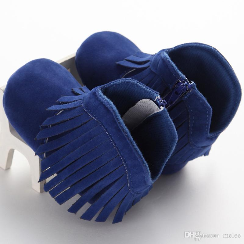 Natale natale bambino mocassini stivali infantili di velluto stivali cerniera laterale bambino cotone mocassini stivali fondo morbido scarpe da passeggio stivali i