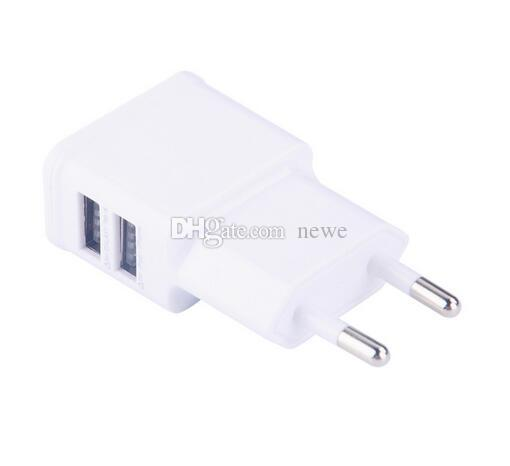 New Arrive Dual EU US 5V 2A plug USB Wall Charger Adapter For USB powered device,cellphone smartphone,PDA,MP3,MP4,Tablet PC