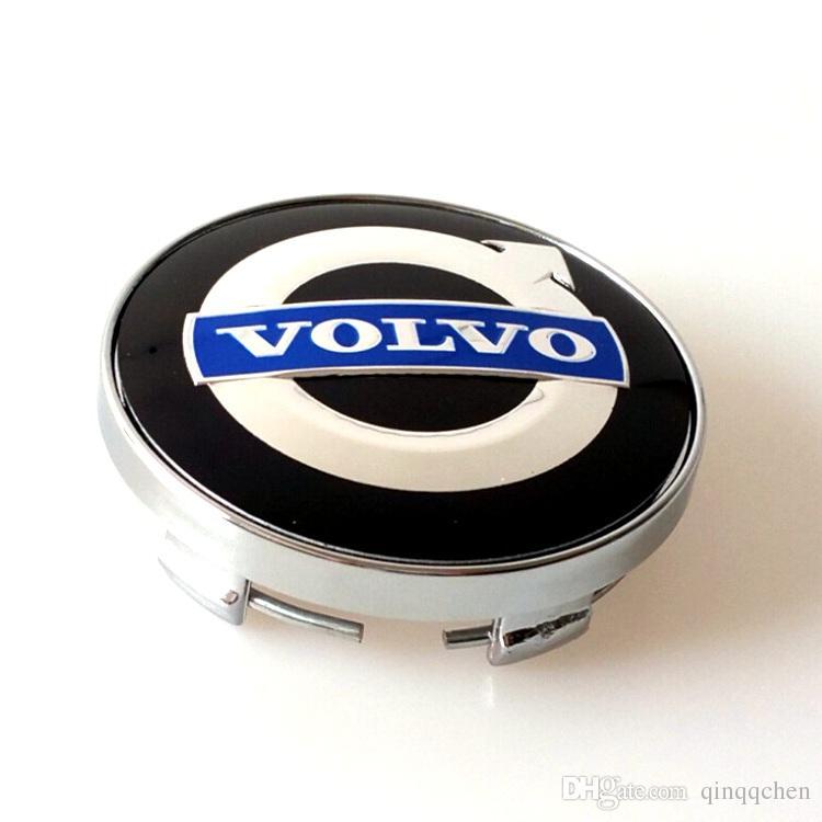 4 pçs / set liga de 60mm volvo centro de roda tampas tampa do cubo emblema do carro emblema azul C30 C70 S40 V50 S60 V60 V70 S80