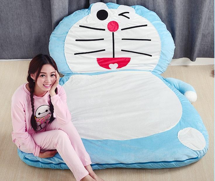 2016 New Fashion Doraemon Giant Sleeping Bag Sofa Bed Twin Cute Cartoon Double Mattress For Kids