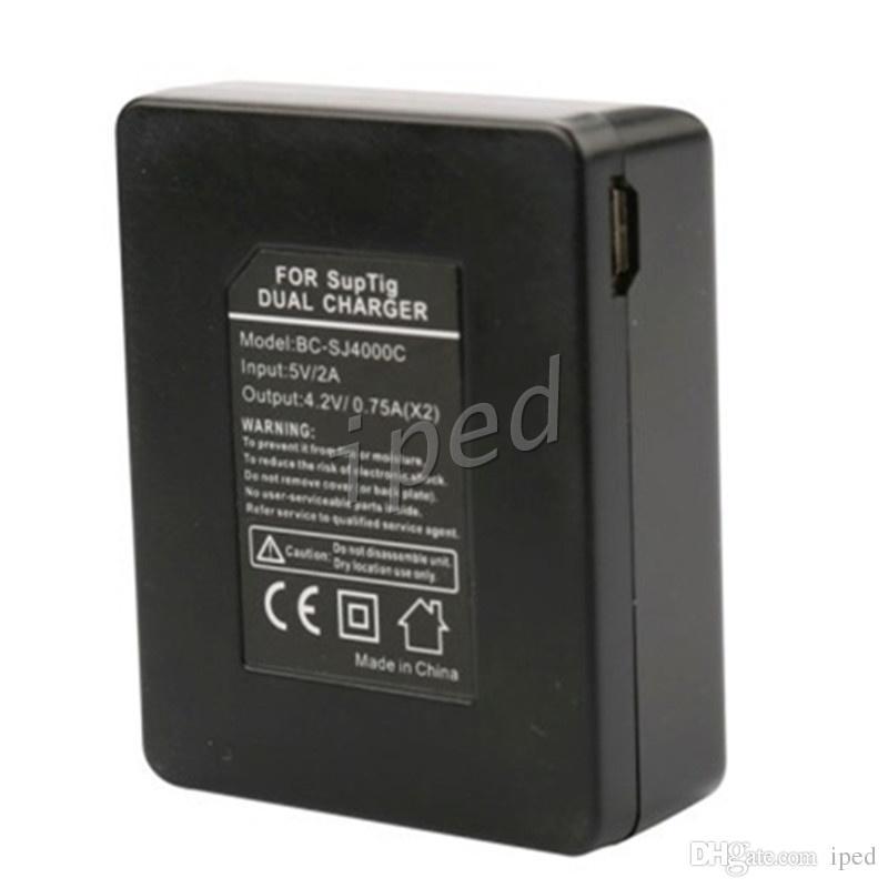 SJCAM Brand Accessories Dual Slot Charger Battery Charger For Spare Battery For SJCAM SJ4000 SJ5000 M10 Original EKEN Series Sport Camera 30