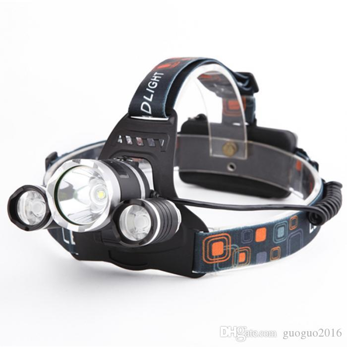 Boruit JR-3000 CREE XML T6 2R5 4 Mode Hiking LED Headlamp Headlight 5000 Lumens With wall Charger