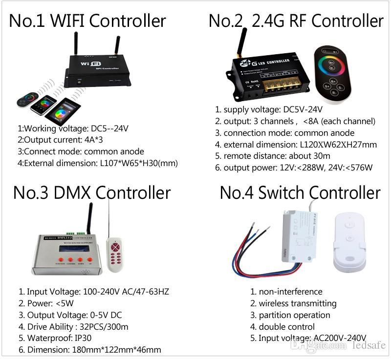 12V IP68 RGB LED حمام سباحة أضواء تحت الماء مصباح WIFI 18W 24W 35W 42W DMX512 / 2.4G RF التبديل حدة تحكم عن بعد + محول الطاقة CE روش