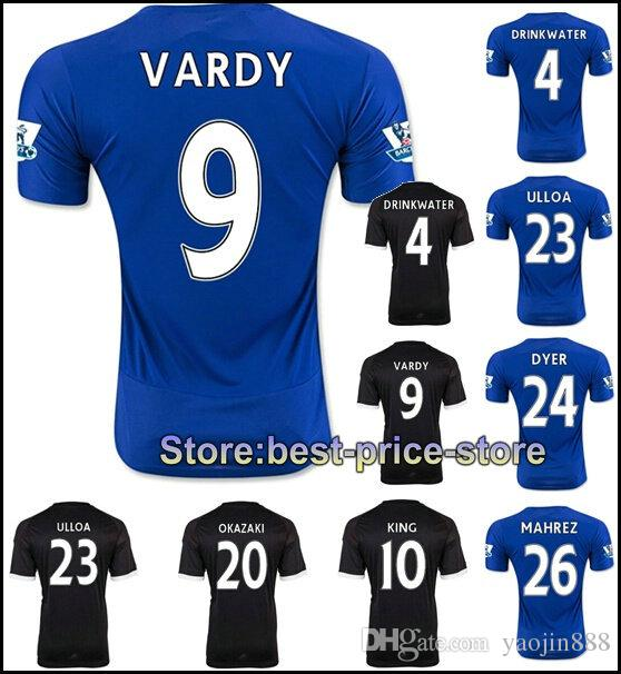 2020 New Leicester City Jersey 15 16 VARDY Home Blue Away ...