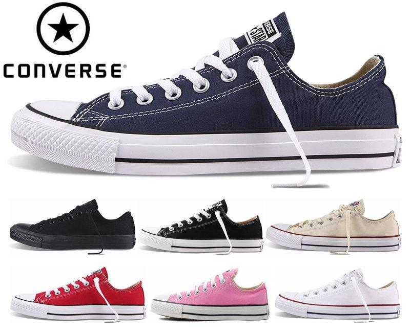 hot sales e60f0 8d8b7 Acheter 2018 Converse Chuck Tay Lor All Star Chaussures Pour Hommes Femmes  Brand Converses Baskets Casual Bas Haut Classique Skateboarding Toile  Navire ...