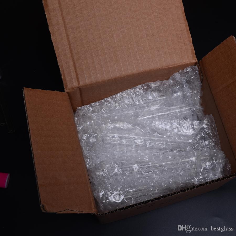 6.5in Brûleur À Huile En Verre Fumer Tuyaux 20x2mm tube transparent / BOX En Gros BestGlass G44-6.5