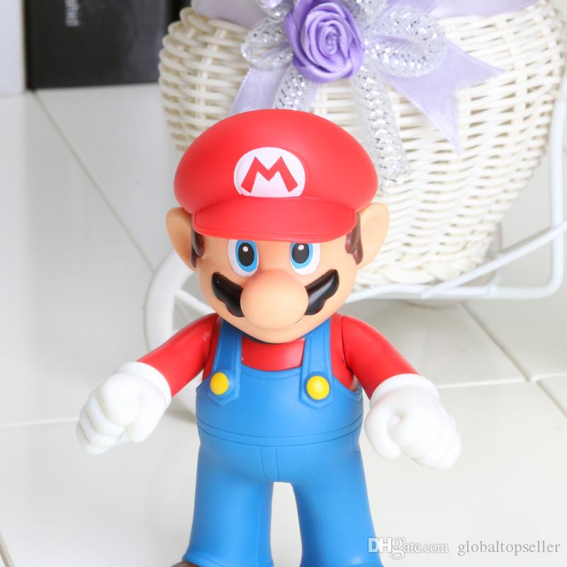 12cm Super Mario Bros Luigi Mario Action Figures Toys Doll