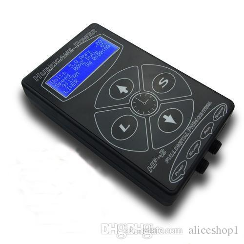 Оптовая ураган HP-2 Черный татуировки питания цифровой ЖК-дисплей для татуировки клип шнур татуировки комплект свободный корабль