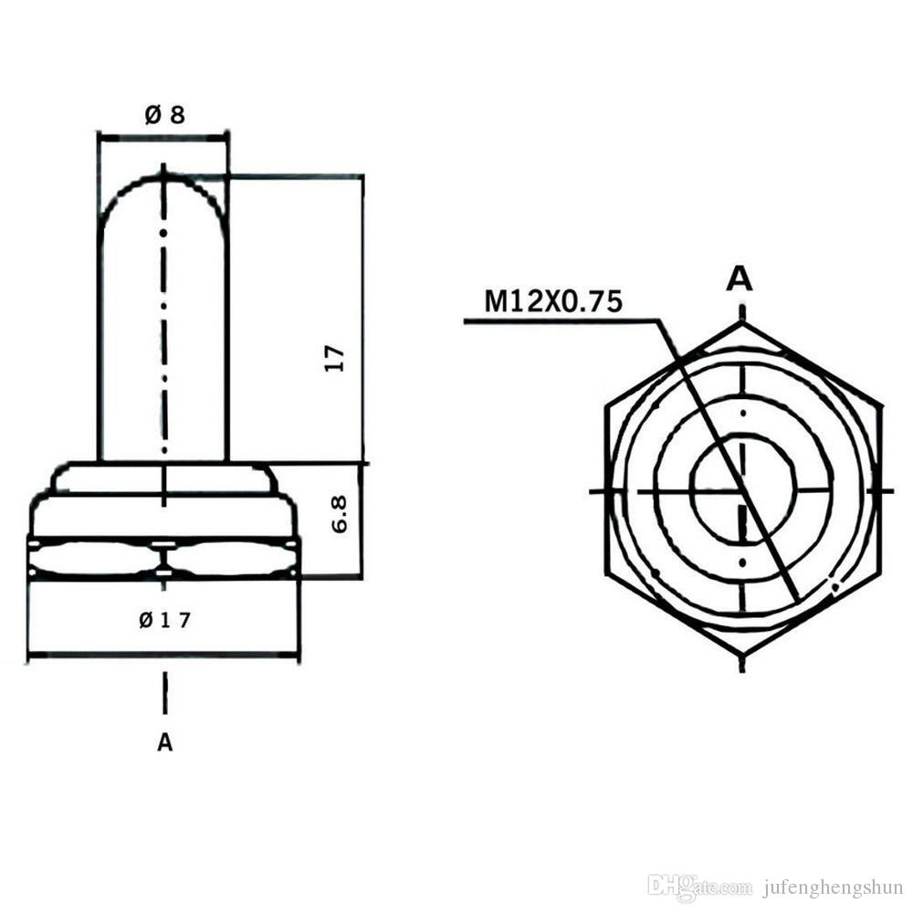 Kippschalter 125V 20A ON OFF 2 Pin mit wasserdichten Stiefeln Heavy Duty SPST Toggle Wippschalter ON-OFF Auto Boot Auto Universal