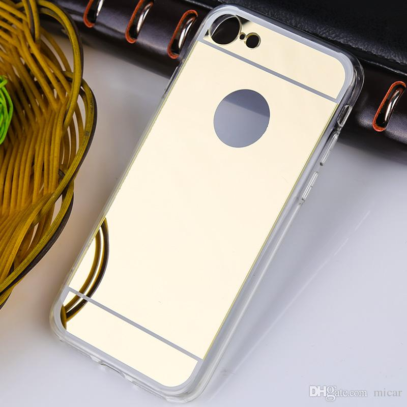 For iphone 7 X iphone7 iphone7plus 7th Mirror case Electroplating Chrome Ultrathin Electroplate Soft TPU Phone Case Cover