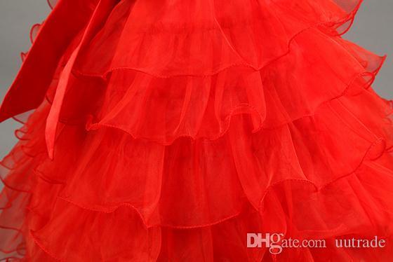 0-2yrs Newborn 2016 Baby Blume Weste Taufe Sommer Kleider Taufkleid Kinder Mädchen Bogen Partei Prinzessin Hochzeitskleid Baby Mädchen Kleidung