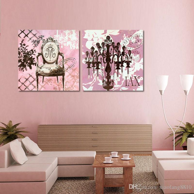 Pink princess lady beautiful jewelry girls decoration wall art pictures Canvas Painting print for living room unframed