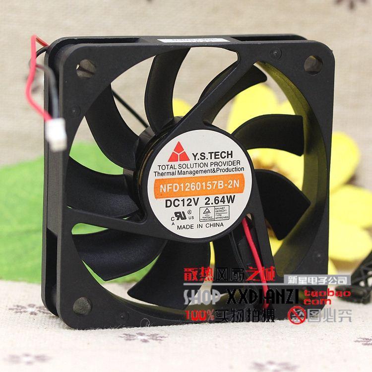 Original Y.S.TECH NFD1260157B-2N 12 V 2,64 Watt 6 CM 60 * 60 * 15 MM lüfter