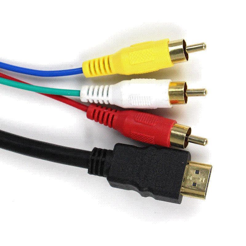 5ft 1 5m Hdmi To 3 Rca Video Av Tv Composite Adapter
